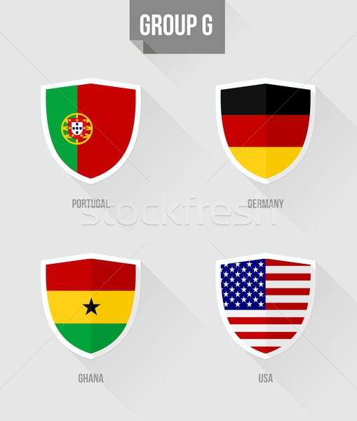 Brazil Soccer Championship 2014 Group G flags Stock photo © cienpies