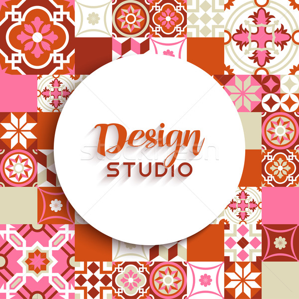 Stock photo: Design studio background mosaic tile decoration