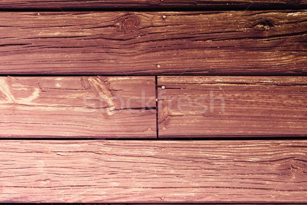 Wood board floor background texture in retro color Stock photo © cienpies