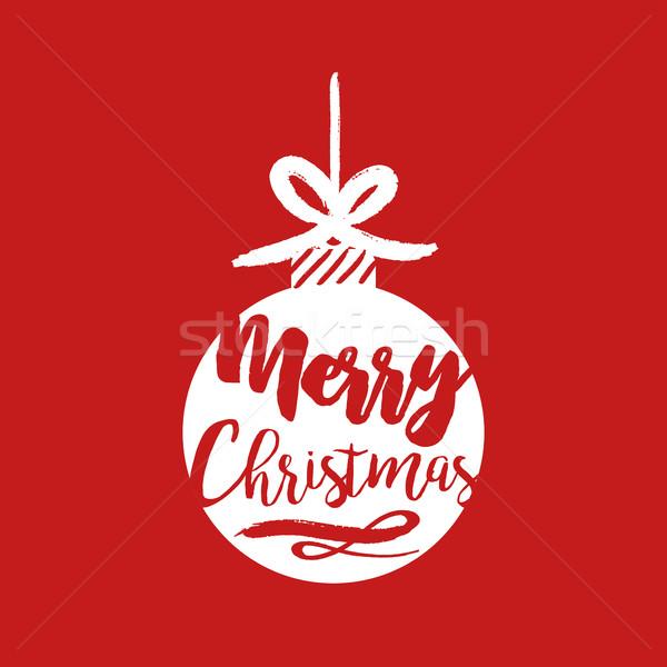 ストックフォト: クリスマス · 引用 · タイポグラフィ · 安物の宝石 · 実例 · 陽気な