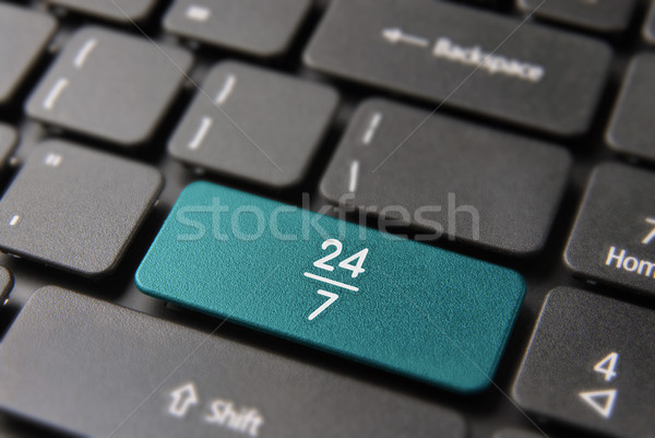 24/7 hour always open service computer keyboard Stock photo © cienpies