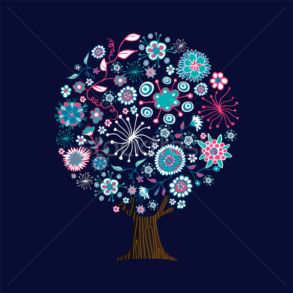 Pink flower tree art concept for spring season Stock photo © cienpies