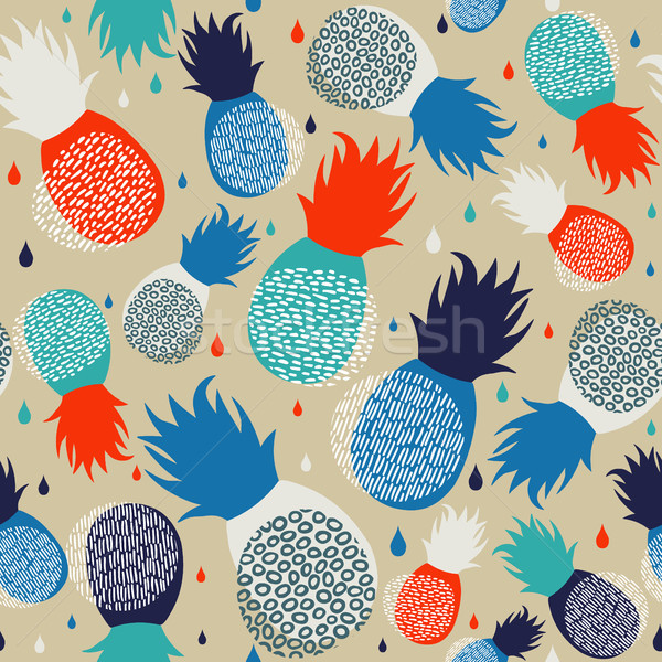 Pineapple abstract seamless pattern background Stock photo © cienpies