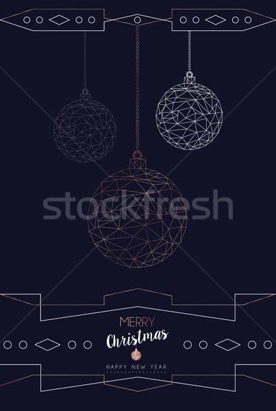 Navidad año nuevo resumen cobre chuchería tarjeta Foto stock © cienpies