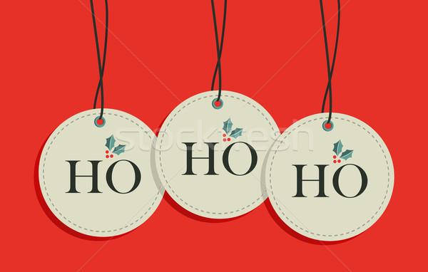 Christmas hang tags sale set Stock photo © cienpies