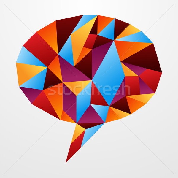 Diversity origami speech bubble isolated Stock photo © cienpies