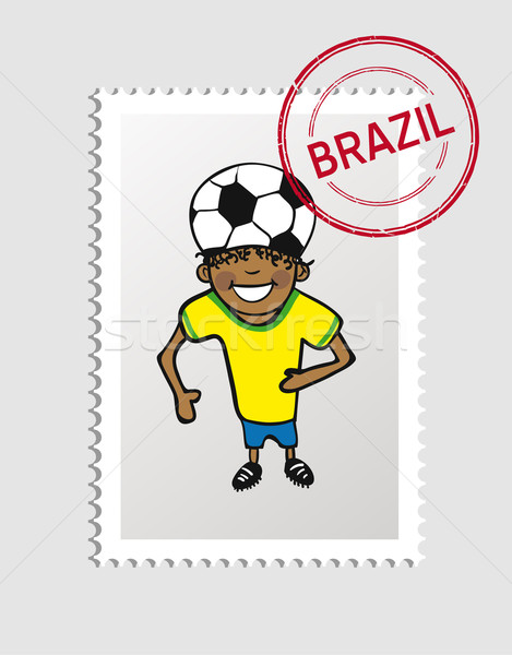 ブラジル 漫画 人 旅行 スタンプ 男 ストックフォト © cienpies