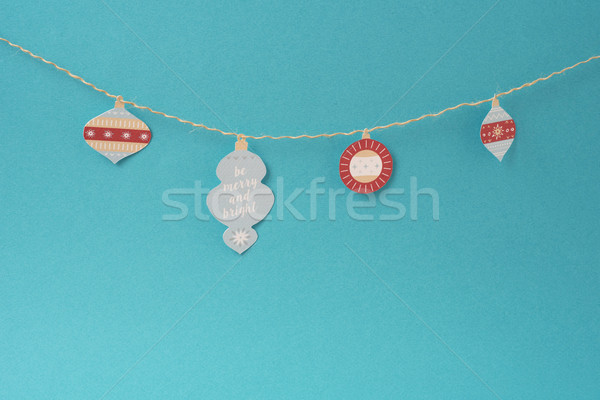 Stock photo: Christmas handmade label paper decoration