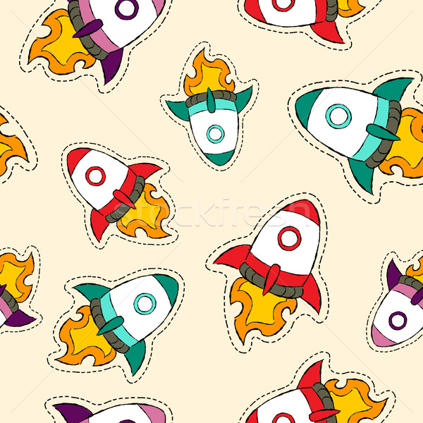Raket schip icon patroon Stockfoto © cienpies