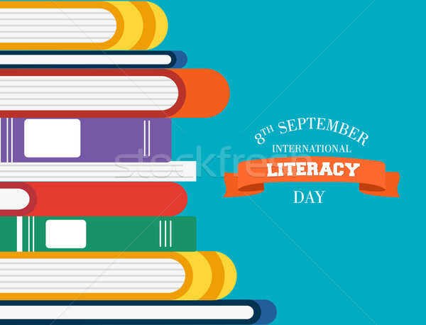 Literacy Day children books for reading education Stock photo © cienpies