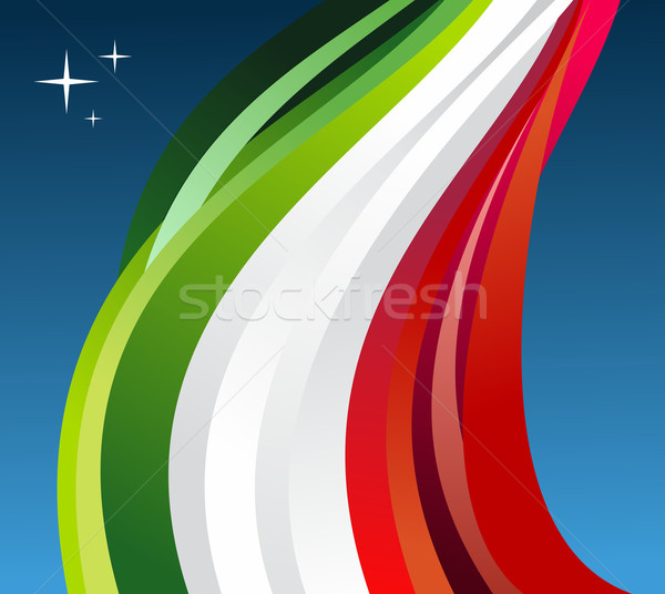 Stock photo: Mexico flag illustration