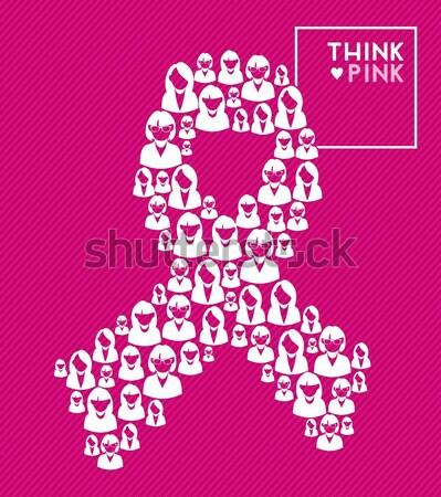 ссылка женщины символ форма силуэта Сток-фото © cienpies