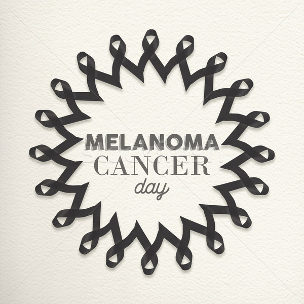 Melanoma cancer day mandala made of ribbons Stock photo © cienpies