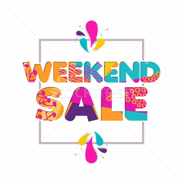 Különleges hétvége vásár idézet üzlet árengedmény Stock fotó © cienpies