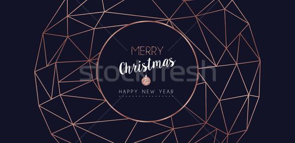 Stok fotoğraf: Noel · yılbaşı · soyut · dekorasyon · afiş · neşeli