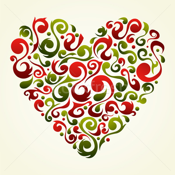 Valentines vintage love heart background Stock photo © cienpies