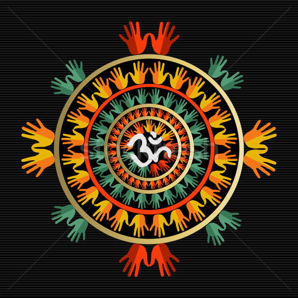 Mandala mains indian signe design Photo stock © cienpies