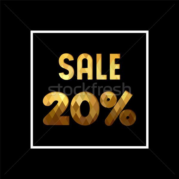 продажи 20 золото цитировать бизнеса Сток-фото © cienpies