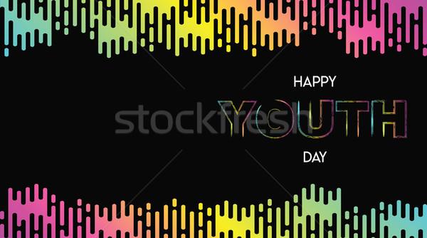счастливым молодежи день аннотация свечение градиент Сток-фото © cienpies
