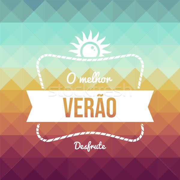 Vintage portuguese summer vacation greeting card Stock photo © cienpies