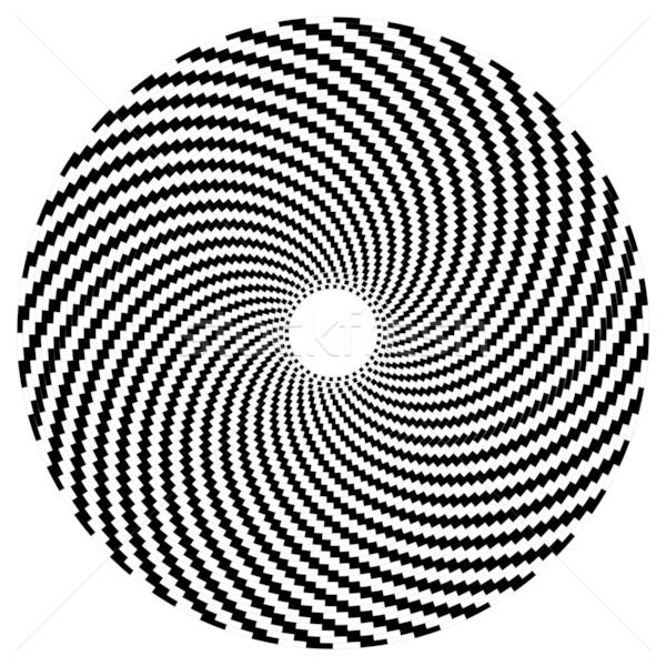 ótico arte esfera preto e branco textura abstrato Foto stock © cienpies