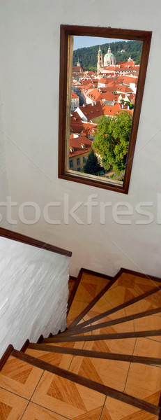 Stairway with window view Stock photo © cienpies
