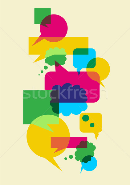 speech social interaction bubbles Stock photo © cienpies