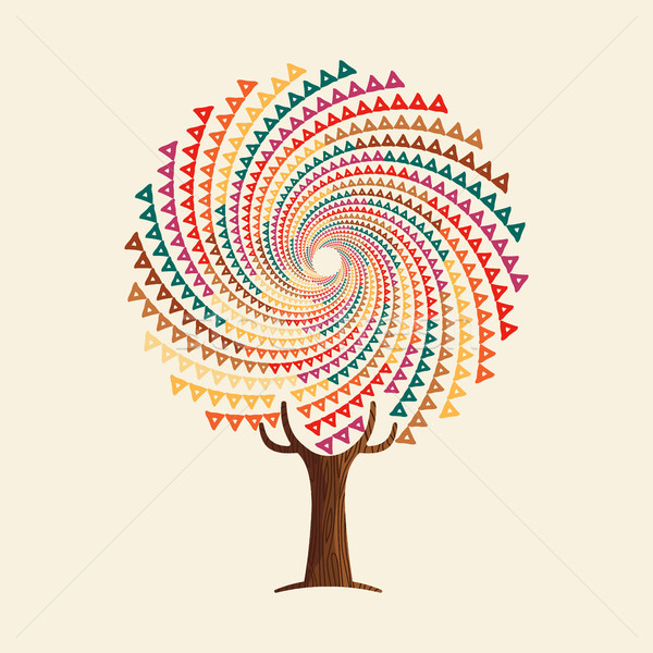 Abstract boho style tree mandala concept  Stock photo © cienpies