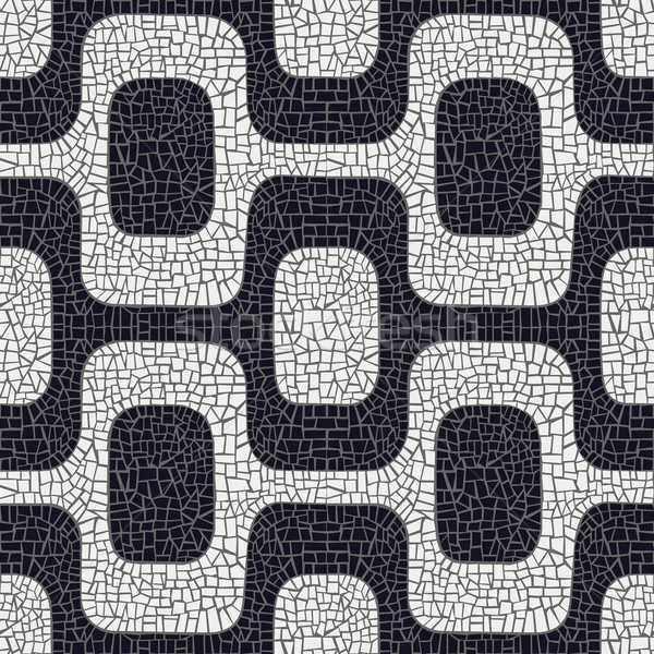 Abstract black and white pavement pattern Stock photo © cienpies