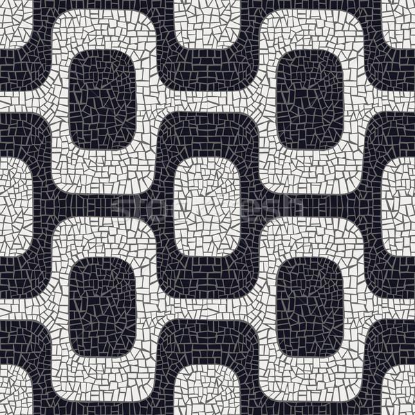 аннотация черно белые тротуар шаблон белый черный Сток-фото © cienpies