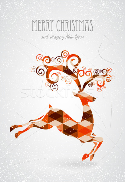 Merry Christmas trendy abstract reindeer  Stock photo © cienpies