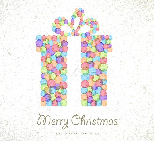 Merry Christmas Watercolor Gift Card Background Vector Illustration