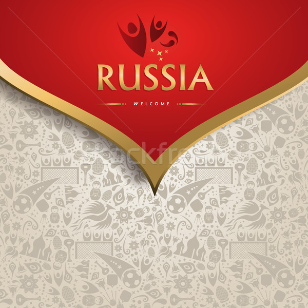 Russia background template for soccer event Stock photo © cienpies