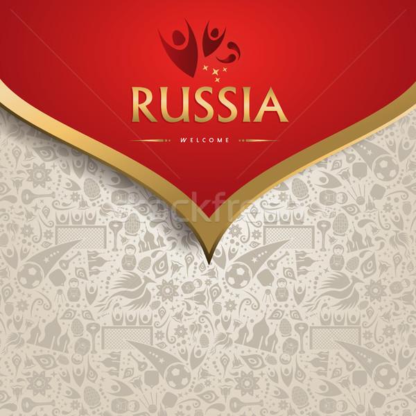 Foto stock: Rusia · plantilla · fútbol · evento · símbolo · textura