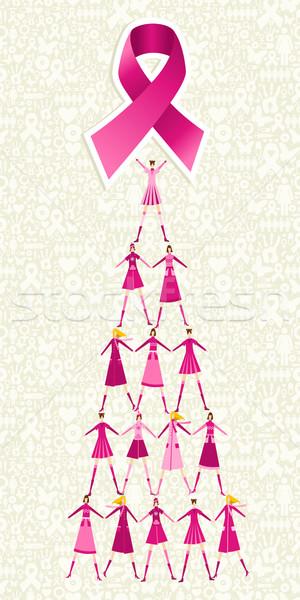 Stockfoto: Borstkanker · dag · pijnboom · piramide · vrouwen