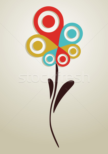 Gps mark conceptual flower Stock photo © cienpies