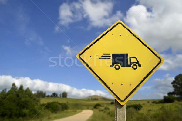 高速 送料 道路標識 トラック アイコン サービス ストックフォト © cienpies