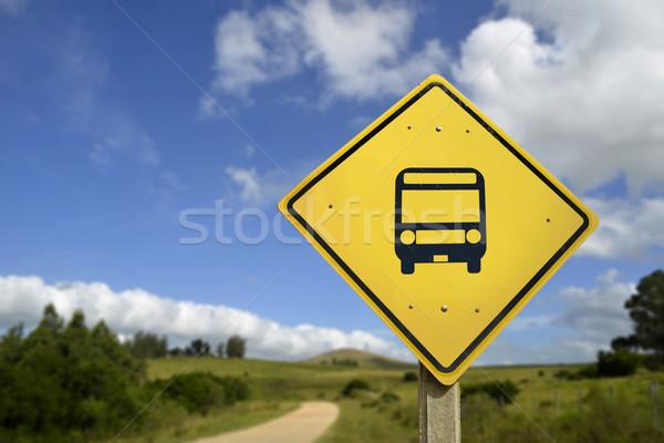 ストックフォト: バス停 · 道路標識 · アイコン · 公共交通機関 · もっと