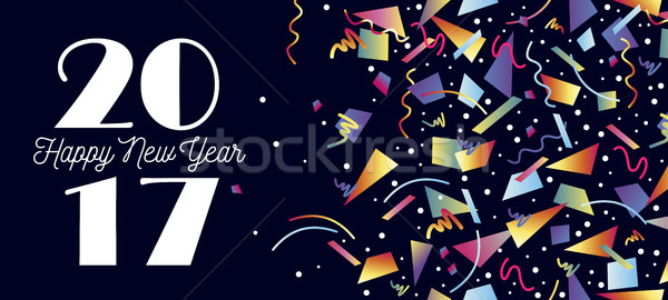 Feliz ano novo festa celebração teia Foto stock © cienpies