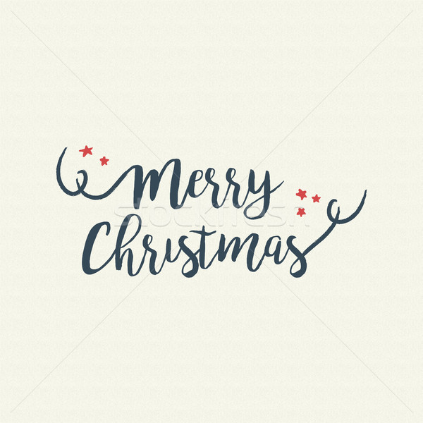 Merry christmas quote text lettering illustration Stock photo © cienpies