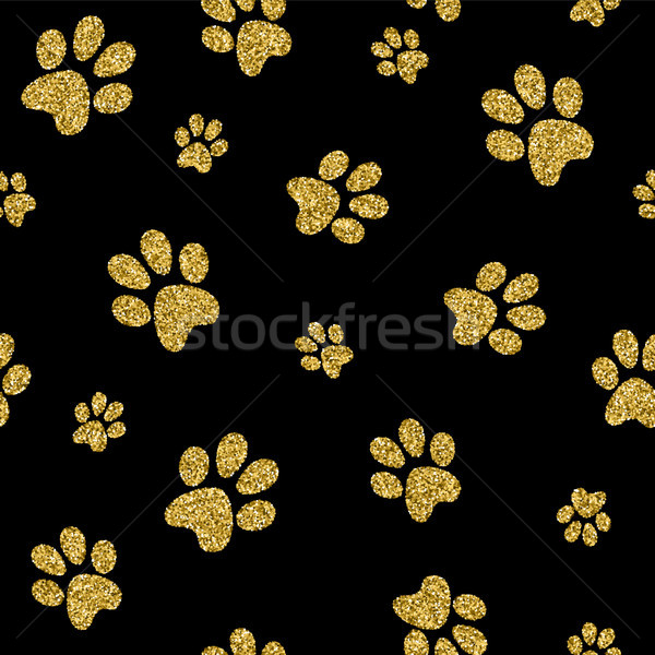Or chien patte or glitter Photo stock © cienpies