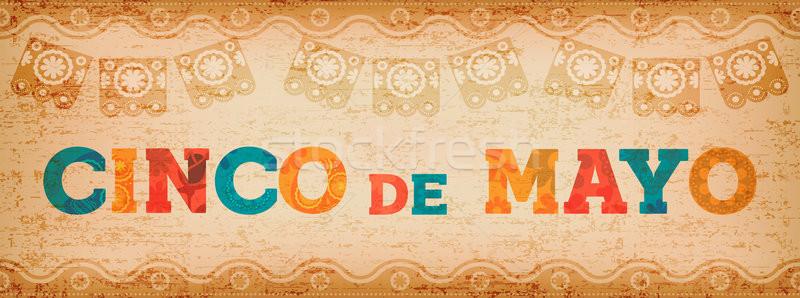 Cinco de mayo fun mexican typography web banner Stock photo © cienpies