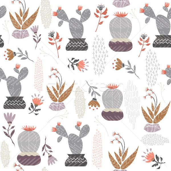 Mexicano cactus planta arte verano Foto stock © cienpies