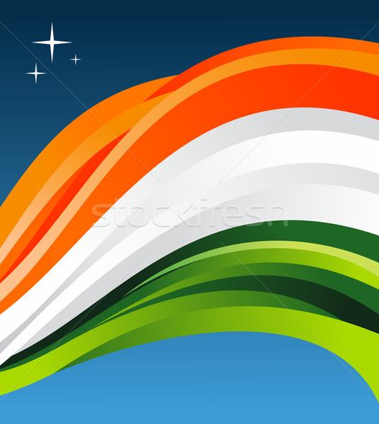 Stock photo: India flag illustration