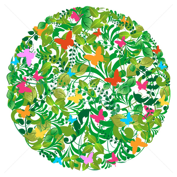 Green forest spring and summer pattern Stock photo © cienpies