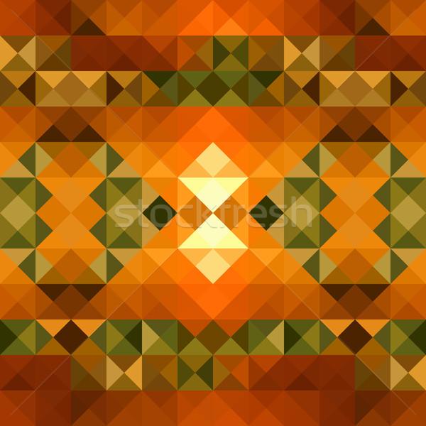 Fall season triangle seamless pattern background. EPS10 file. Stock photo © cienpies