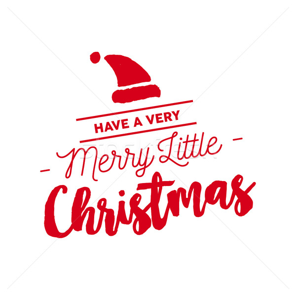 Christmas Calligraphy.Merry Christmas Calligraphy Santa Illustration Vector
