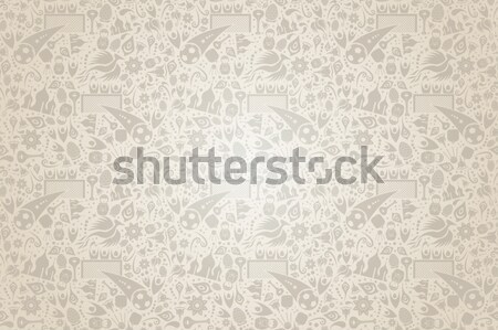 Russian background pattern of traditional icons Stock photo © cienpies