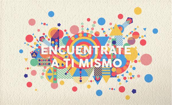 Trouver vous-même espagnol motivation citer affiche Photo stock © cienpies