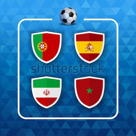 Group B russian soccer event country flag list Stock photo © cienpies